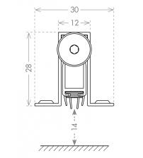 Автоматический порог ARMADILLO EASY CON ALIETTE ASAL A /830 (на полотно 800 мм.)