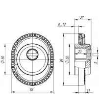 Броненакладка ARMADILLO CLASSIC ЕТ/АТС-Protector 1CL-25 ABL-18 (тёмная медь, 1 шт.)