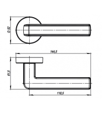 Ручки раздельные ARMADILLO URBAN CUBE URB3 СР/WHITE-14 (хром/белый)