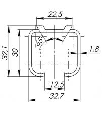 Верхняя направляющая ARMADILLO Comfort Track 60 kg/1,8 mm/2 m