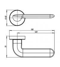 Ручки раздельные ARMADILLO URBAN EXCALIBUR URB4 CP-8 (хром)