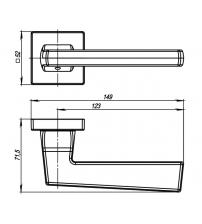 Ручки раздельные ARMADILLO URBAN GROOVE USQ5 SN/CP/SN-12 (матовый никель/хром/матовый никель)
