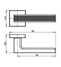 Ручки раздельные ARMADILLO URBAN LINE USQ6 SN-3 (матовый никель)