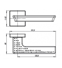Ручки раздельные ARMADILLO URBAN MATRIX USQ7 SN-3 (матовый никель)