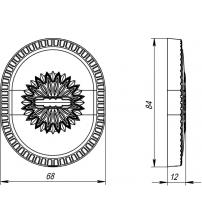 Накладка на сувальдный замок ARMADILLO CLASSIC PS/DEC-Protector 1 ATC ABL-18 (тёмная медь, 1 шт.)
