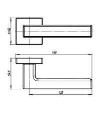 Ручки раздельные ARMADILLO URBAN SCREEN USQ8 SN/CP-3 (матовый никель/хром)
