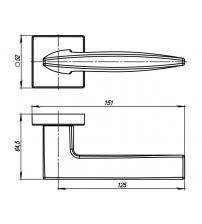 Ручки раздельные ARMADILLO URBAN SQUID USQ9 SN-3 (матовый никель)
