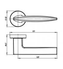 Ручки раздельные ARMADILLO URBAN SQUID URB9 CP-8 (хром)