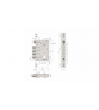 Корпус замка врезного КРИТ ЗВ-А28 (без цилиндрового механизма)