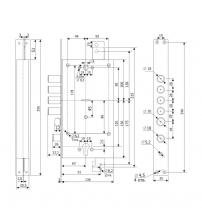 Замок врезной комбинированный Гардиан 25.12 Т (с двумя механизмами секретности, защелкой и вертикальным приводом)