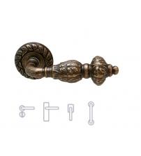 """Ручки MELODIA """"GEMINI 230"""" на розетке 60 мм (античная бронза)"""