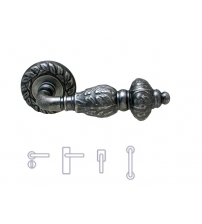 "Ручки MELODIA ""GEMINI 230"" на розетке 60 мм (античное серебро)"