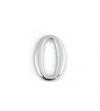 Цифра дверная APECS DN-01-0-Z-CR (хром, самоклеющаяся)