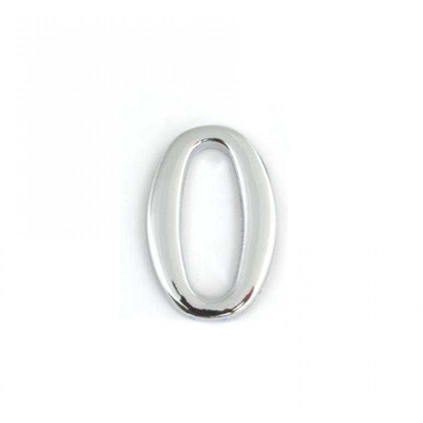 Цифра дверная APECS DN-01-0-Z-CR (хром, самоклеящаяся)