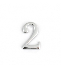 Цифра дверная APECS DN-01-2-Z-CR (хром, самоклеящаяся)