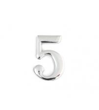 Цифра дверная APECS DN-01-5-Z-CR (хром, самоклеящаяся)