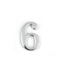 Цифра дверная APECS DN-01-6-Z-CR (хром, самоклеящаяся)