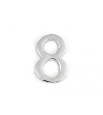 Цифра дверная APECS DN-01-8-Z-CR (хром, самоклеящаяся)