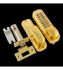 Кодовый замок НОРА-М 201 (золото, с фиксатором)