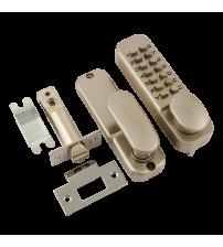 Кодовый замок НОРА-М 201 (матовый никель, с фиксатором)