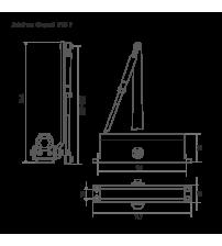 Доводчик морозостойкий НОРА-М №2s F (с фиксацией, до 50 кг., белый)