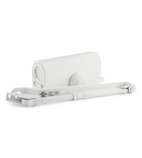 Доводчик морозостойкий НОРА-М №3s F (с фиксацией, большой рычаг, до 80 кг., белый)