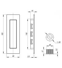 Ручки для раздвижных дверей ARMADILLO SH010/URB BL-26 (чёрный матовый)
