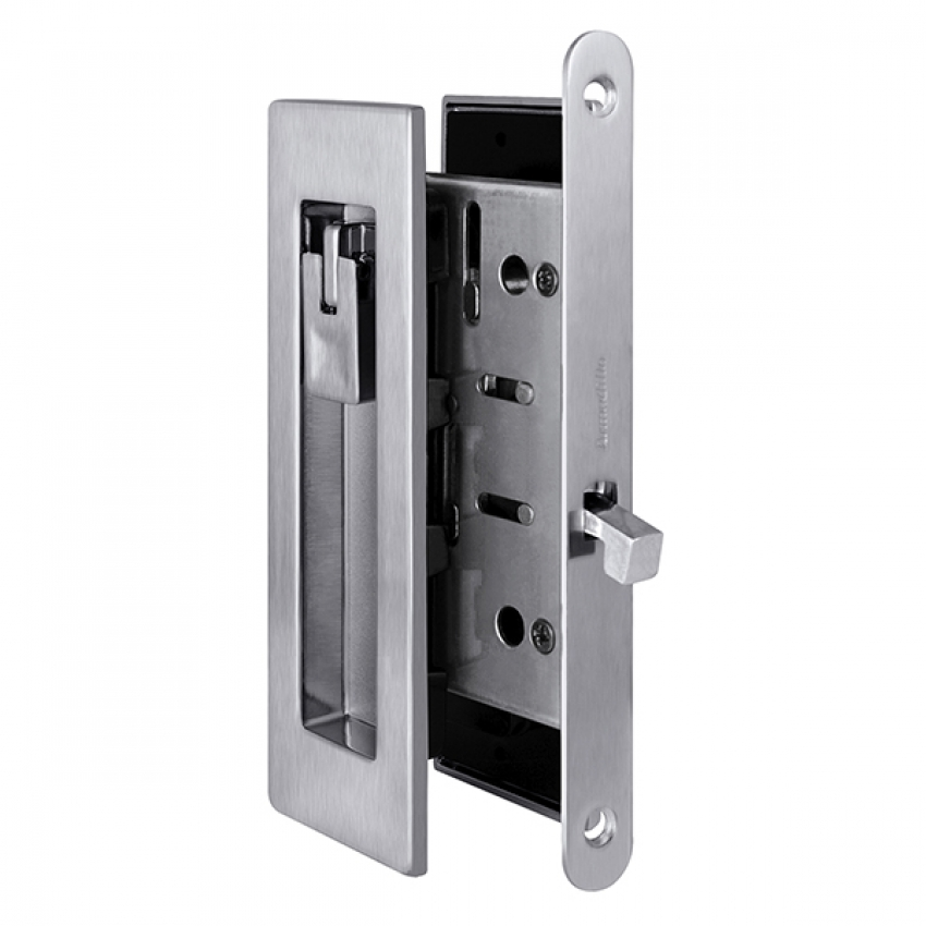 Ручки с защёлкой для раздвижных дверей ARMADILLO SH011 URB MWSC-33 (итальянский тиснённый матовый хром)