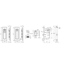 Ручки с защёлкой для раздвижных дверей ARMADILLO SH011 URB BL-26 (чёрный матовый)