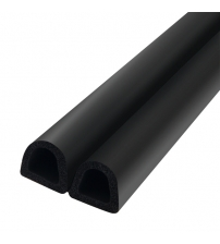 Уплотнитель TRELLEBORG D-LIST D-100 9 х 8 мм (чёрный)