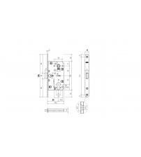 Замок под цилиндр AGB MEDIANA POLARIS B05103.50.91.567 (белый)