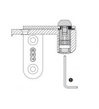 Комплект петель скрытой установки AGB 2R Е100064106 (хром)