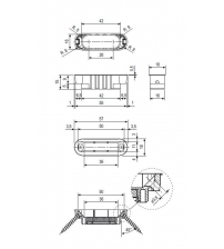 Ответная магнитная планка AGB MEDIANA POLARIS Minimal ВО2402.05.12 (бронза)