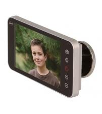 Видеоглазок AMIG 21377 DWR 4.0 HD (серебро, оптика стекло, камера 2.0 mega pixel CMOS/карта памяти 1 GB, толщина двери 42/72)