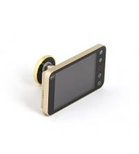 Видеоглазок AMIG 21374 DWR 4.0 HD (золото, оптика стекло, камера 2.0 mega pixel CMOS, толщина двери 42/72)