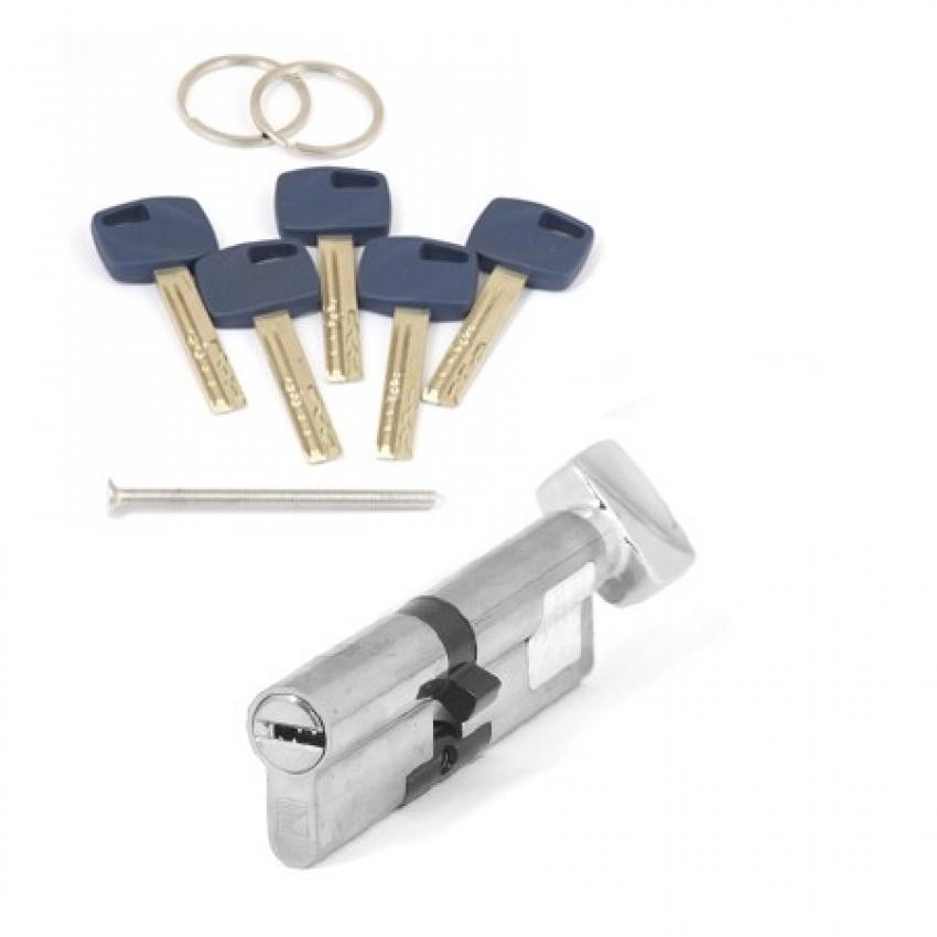 Цилиндровый механизм Apecs Premier XR-90(40/50C)-C15-NI (никель, с вертушкой)