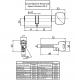 Цилиндровый механизм Apecs Premier XR-110(60/50C)-C15-G (золото, с вертушкой)