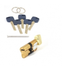 Цилиндровый механизм Apecs Premier XR-70(35/35С)-C15-G (золото, с вертушкой)