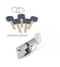 Цилиндровый механизм Apecs Premier XR-80(35/45C)-C15-NI (никель, с вертушкой)
