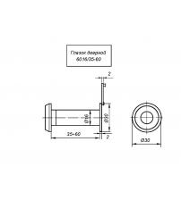 Глазок дверной APECS 6016/35-60-CR (хром, оптика пластик, материал ЦАМ, угол обзора 180ᵒ)