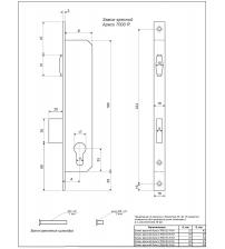 Корпус замка врезного APECS 7000-25-R-NI (никель, Backset 25 мм, роликовая защёлка)