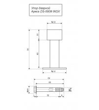 Упор дверной напольный/настенный Apecs DS-0009-INOX (85 мм, нержавейка)