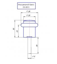 Упор дверной Apecs DS-0013-AB (бронза)