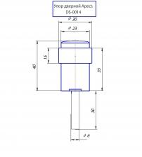 Упор дверной Apecs DS-0014-AB (бронза)