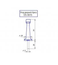 Упор дверной Apecs DS-0015-AB (бронза)