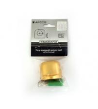 Упор дверной магнитный Apecs DS-2751-M-GM (матовое золото)