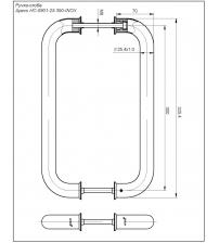 Ручки-скобы Apecs HC-0901-25/300-INOX (нержавеющая сталь)