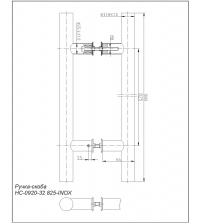 Ручки-скобы Apecs HC-0920-32/825-INOX (нержавеющая сталь)