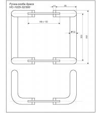 Ручки-скобы Apecs HC-1025-32/300-B (коричневая)