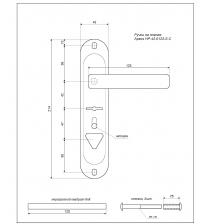 Ручки на планке APECS HP-42.0123-S-C-CR-L (хром, левая)